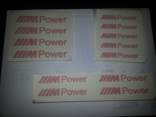 bmw - kit de 4 adesivos para pinça de freio ou rodas mpower