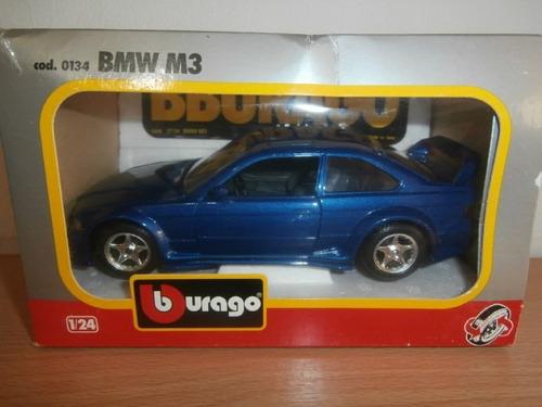 bmw m3 1993 burago escala: 1:24