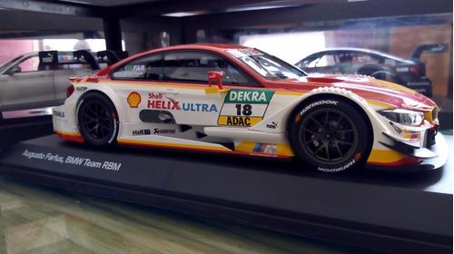 bmw m4 dtm 1/18 dealer edition auto a escala augusto farfus
