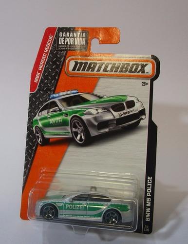 bmw m5 police escala 1/64 coleccion matchbox