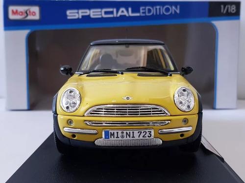 bmw mini cooper  amarillo escala 1/18 de colección