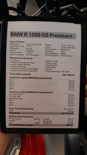bmw r 1200 gs premium + unico dono, impecável