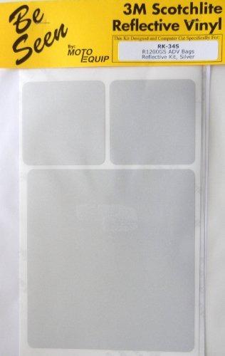 bmw r1200gs aventura alforja plata cinta reflectante kit