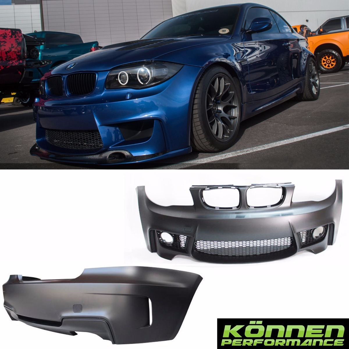 bmw serie 1 body kit 1m 08 13 e82 135i 125i facia defensa. Black Bedroom Furniture Sets. Home Design Ideas