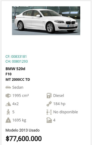 bmw serie 5 520 d 2013