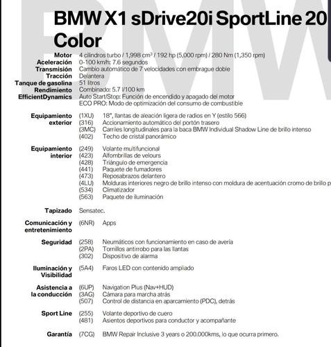 bmw x1 sdrive20i sportline 20 automática