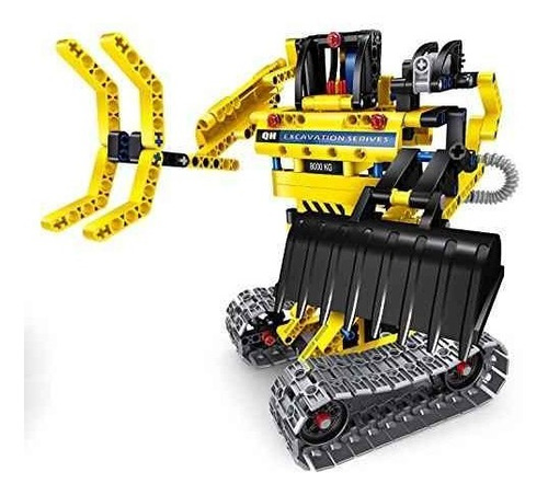 bo toys building ladrillos stem toy 342 pcs excavadora y rob