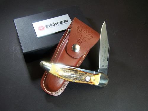 bo2020hh boker navaja folding hunter 2 hojas asta venado