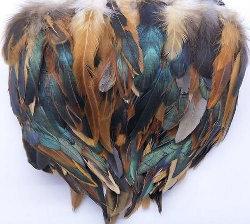 boa plumas cafe con negro 15 cm aprox precio 1 metro