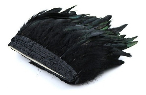 boa plumas vaero negras 15 a 20 cm aprox precio 1 metro