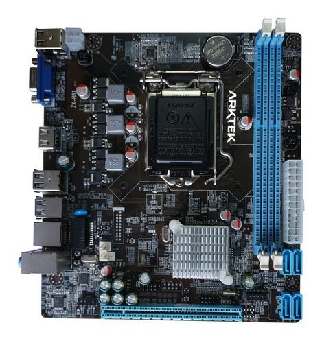 board arktek h81m core i3 i5 i7 cuarta generacion 1150
