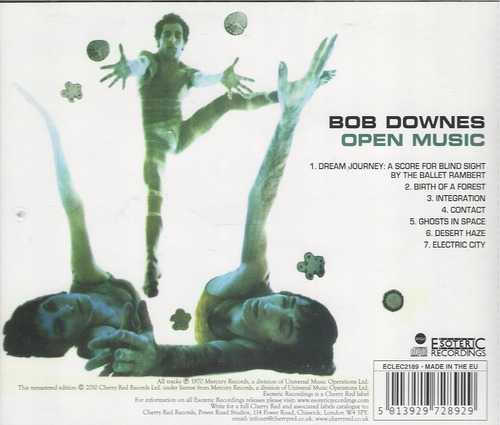 bob downes - open music ( cd - rem - imp. uk )