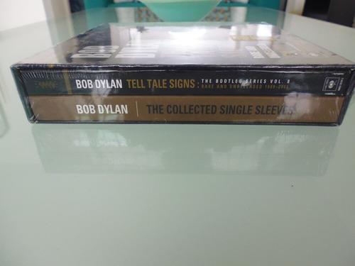 bob dylan / tell tale signs / box set / 3 cds y 2 libros /