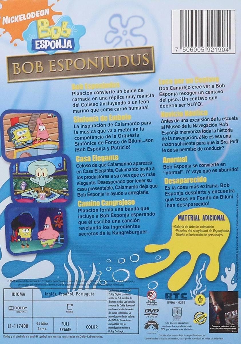 Bob Esponja Bob Esponjudus Coleccion 8 Episodios Serie Dvd ...