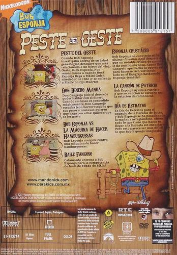 bob esponja en la peste del oeste coleccion 7 episodios dvd