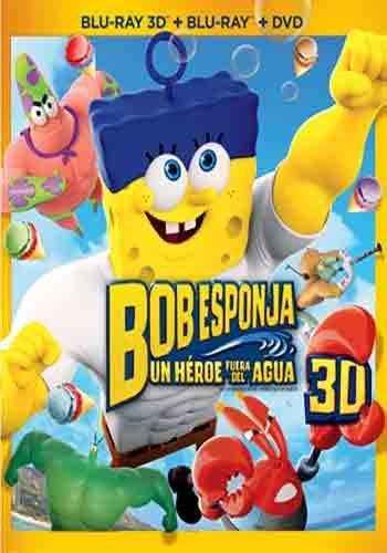 bob esponja un heroe fuera del agua pelicula 3d + bluray dvd