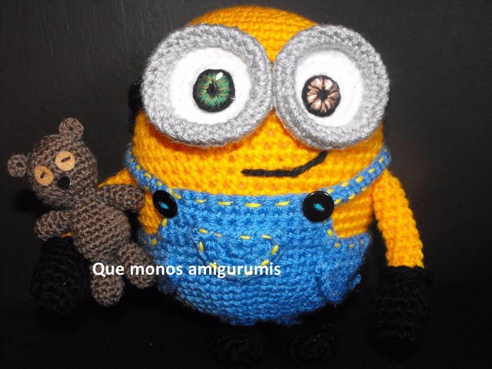 Amigurumi Minion Bob : Bob Kevin Stuart Minions Tejidos A Mano Minion Amigurumi ...