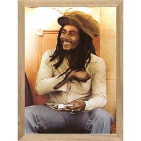 Bob Marley , Cuadro, Poster  Enmarcado  Música          L477