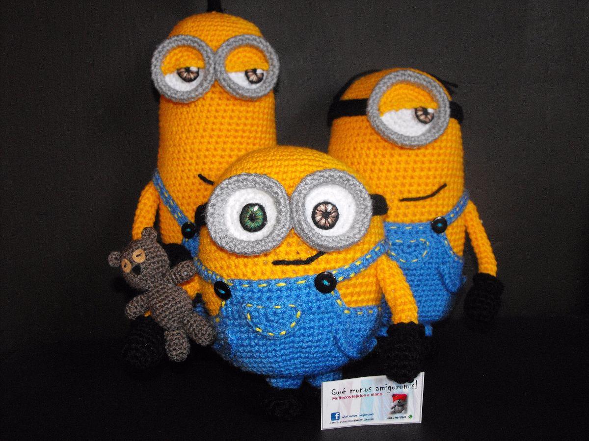 Patron Minion Amigurumi : Amigurumis minions bob: muñeco minion bob a crochet youtube.