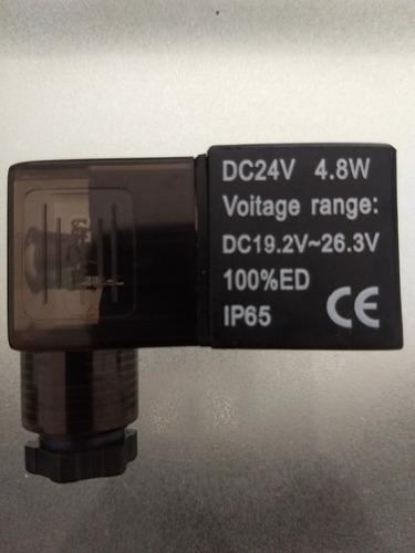 bobina 24vdc para electrovalvula 3/2 y 5/2 ref: 91391.