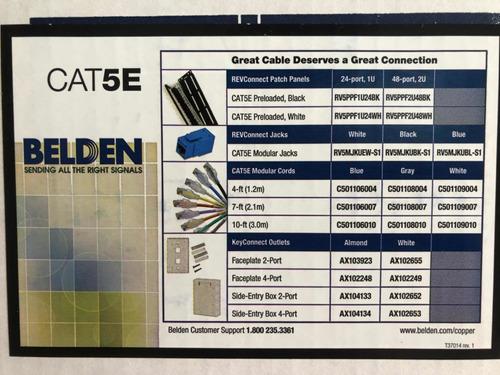 bobina cable belden utp cat 5e, 305m, 100% cobre, exterior