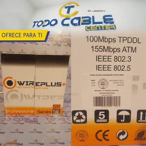 bobina cable de red utp cat5 nivel 5e internet 305 metros