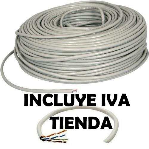 bobina cable de red utp cat5e 100mts cctv lan 24awg verified