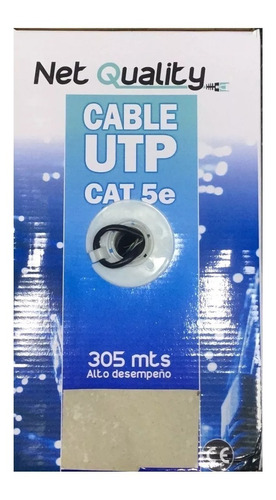 bobina cable red utp cat5e exterior rollo caja 305mts