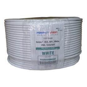 Bobina Cable Rg6 Coaxil Blanco Rollo X 152mts