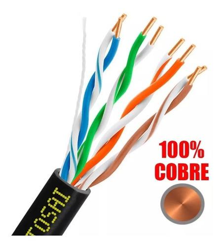 bobina cable utp cat 5e 305 metros 100% cobre camaras cctv