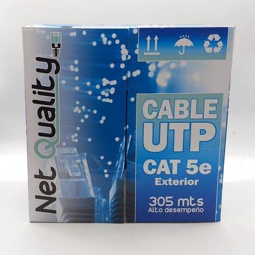 bobina cable utp cat 5e 305 metros red exterior camara cctv