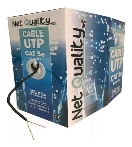 bobina cable utp cat 5e 305 mts exterior camara cctv 2 pares