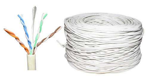 bobina cable utp cat 5e blanco 305m 8 hilos cctv rj45 0.40mm