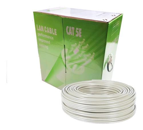 bobina cable utp lan categoria 5e 305 metros rj45 cctv red