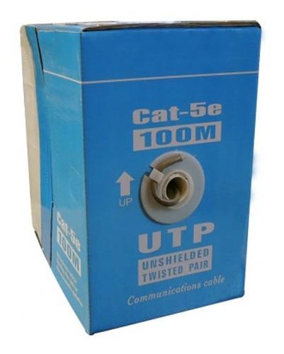 bobina cable utp nrg+ 100 mts categoria 5e redes empresas