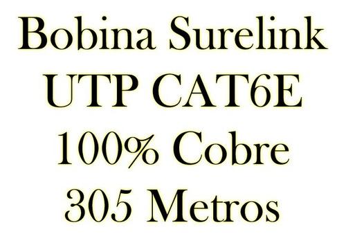 bobina cable utp red cat6  305 mts 100% cobre bagc