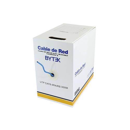 bobina de cable utp 300 metros cat6e .60mm red camaras cctv