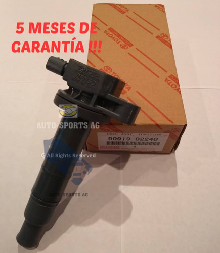 bobina de encendido toyota yaris original 90919-02240