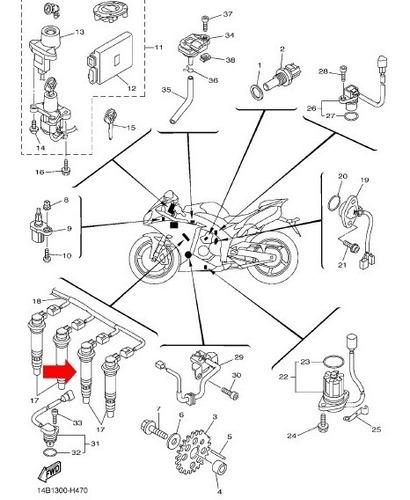 bobina de ignição jet yamaha fx 160 sailor shs 1100 moto r1
