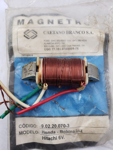 bobina de luz - megatron - 9.02.20.070-3 - 3428