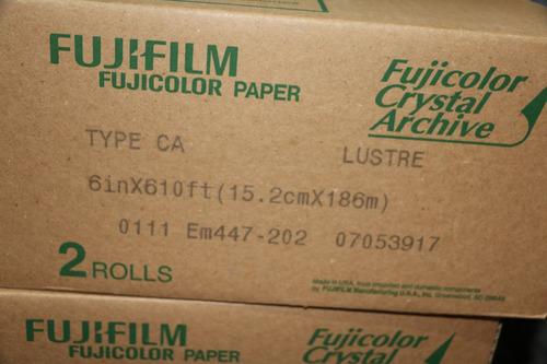bobina de papel fuji de 6  matte  para minilab (envio gratis