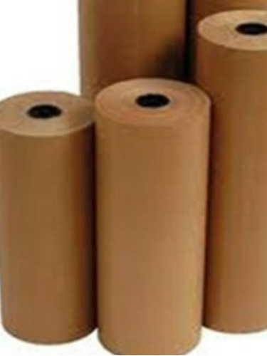 bobina de papel marron kraft