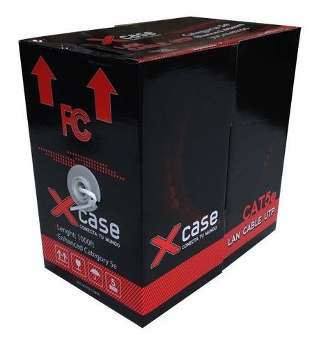 bobina de red cat 5e utp blanca 305 mts rj45  8 hilos caja