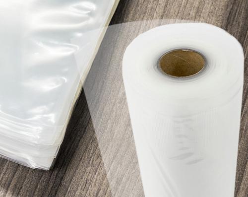 bobina de saco plástico a vácuo gofrada 25cmx5m