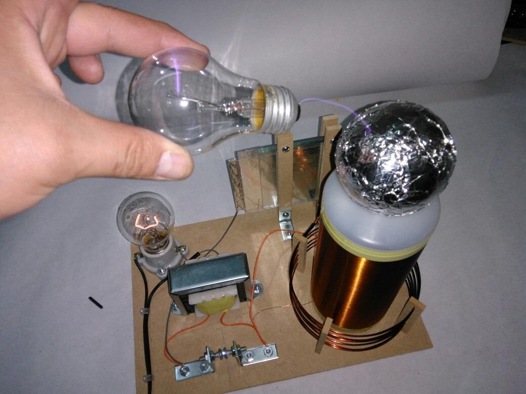 Circuito Bobina De Tesla : Bobina de tesla transformador resonante alto voltaje v w