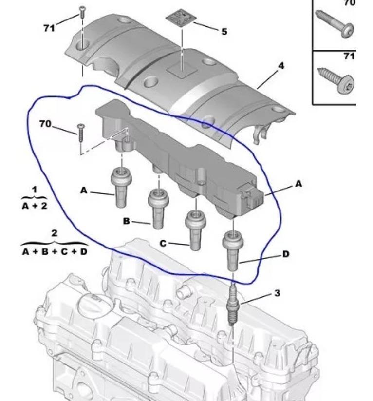 Bobina Ignicao Peugeot 206 207 307 C3 1 6 16v Original