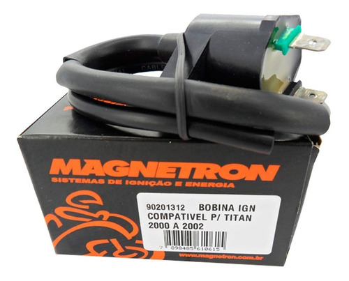 bobina ignição cg titan 125 2000/2002 magnetron 90201312
