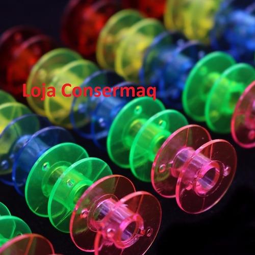 bobina maquina costura singer colorida - 25 un -frete grátis