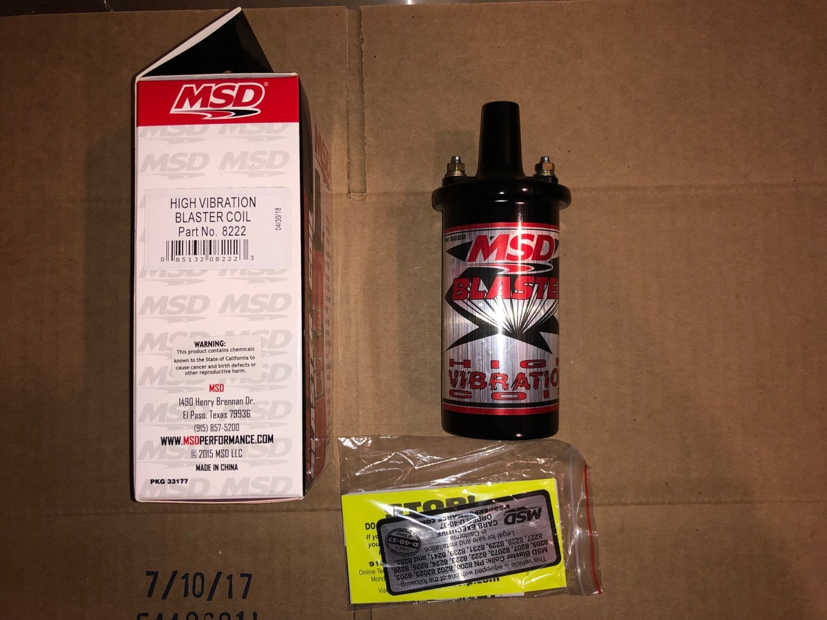MSD 8222 Blaster High Vibration Ignition Coil