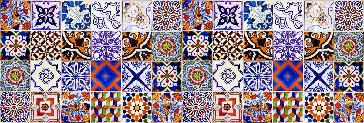 Bobina papel de parede ladrilho hidr ulico azulejo - Papel para azulejos de bano ...